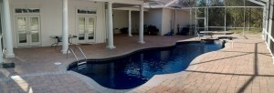 Panoramic View of our Blue Isle Pool